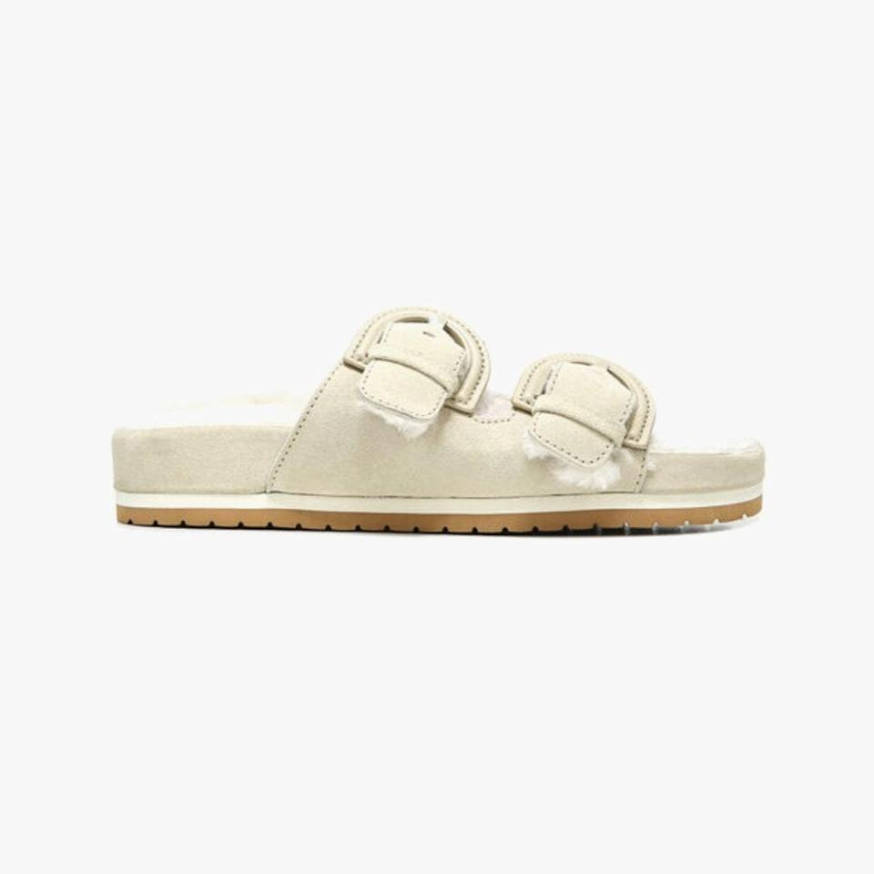 """Vince is offering an additional 25% off sale items in-store and online with code MAY25 through Monday, May 31. $275, VINCE. <a href=""""https://www.vince.com/suede-glyn-sandal-H5405L1BISCOTTI.html#start=2"""" rel=""""nofollow noopener"""" target=""""_blank"""" data-ylk=""""slk:Get it now!"""" class=""""link rapid-noclick-resp"""">Get it now!</a>"""