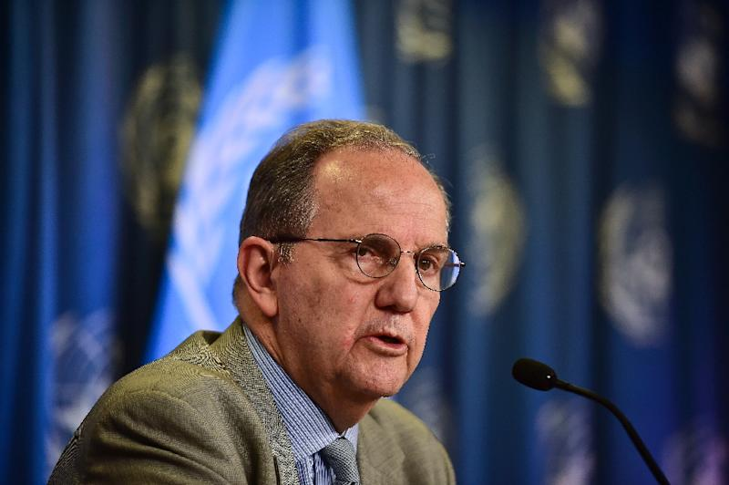 Juan Mendez, pictured here in Mexico City on May 2, 2014, has accused the United States of dragging its feet on his requested visits to prisons and refusing to give him access to inmates at Guantanamo (AFP Photo/Ronaldo Schemidt)