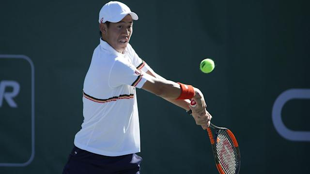 After missing several months due to a wrist injury, Kei Nishikori won on his ATP World Tour return in New York.