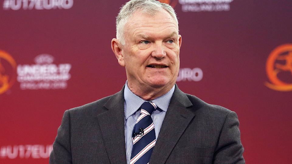 Greg Clarke, pictured here at the 2018 UEFA European Under-17 Championship draw.