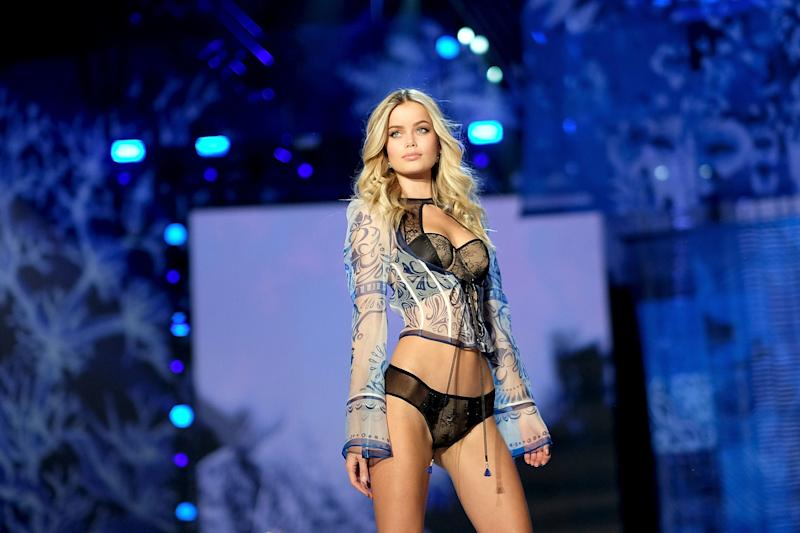 SHANGHAI, CHINA - NOVEMBER 20: Frida Aasen walks the runway during the 2017 Victoria's Secret Fashion Show In Shanghai at Mercedes-Benz Arena on November 20, 2017 in Shanghai, China. (Photo by Matt Winkelmeyer/Getty Images for Victoria's Secret)