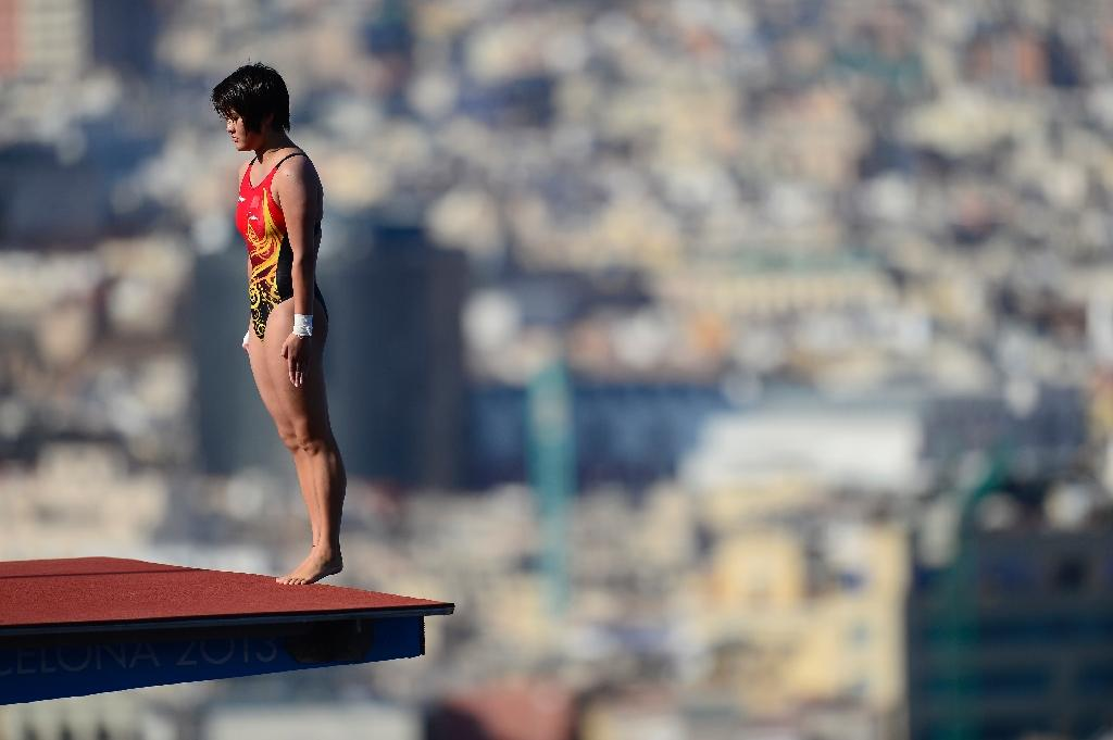 China's Chen Ruolin competes in the women's 10-m platform diving event during the FINA World Championships in Barcelona, in 2013 (AFP Photo/Javier Soriano)