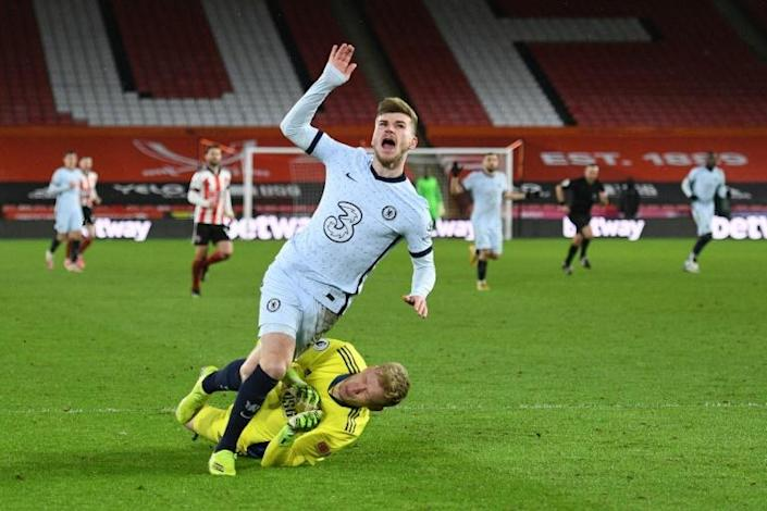 Timo Werner's Premier League goal drought continued despite a 2-1 Chelsea win at Sheffield United