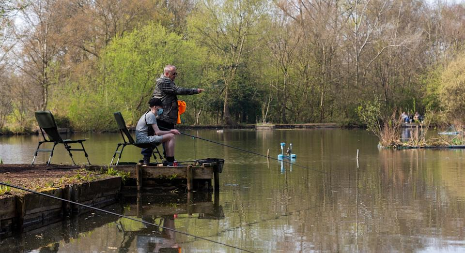 The first patients prescribed fishing therapy have already taken to the water (SWNS)