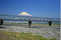 """<p>Clean, punctual and speedy, the Shinkansen, or <a href=""""https://www.goodhousekeeping.com/uk/lifestyle/travel/a26129124/cherry-blossom-japan-holiday/"""" rel=""""nofollow noopener"""" target=""""_blank"""" data-ylk=""""slk:Japan"""" class=""""link rapid-noclick-resp"""">Japan</a>'s bullet train, is the fastest and most comfortable route between Tokyo and Osaka, arriving in a record time of just 2 hours and 30 minutes. </p><p>Thanks to the incredible feats of engineering, your surroundings will mostly whizz past so quickly you'll be lucky to catch a glimpse! Riding the Tokaido Shinkansen is a fascinating cultural experience that makes for a <a href=""""https://www.goodhousekeeping.com/uk/lifestyle/travel/g28685270/long-haul-holidays/"""" rel=""""nofollow noopener"""" target=""""_blank"""" data-ylk=""""slk:long-haul rail holiday"""" class=""""link rapid-noclick-resp"""">long-haul rail holiday</a> to remember.</p><p><strong>For spring 2022, you can travel on Japan's bullet train when the cherry blossom trees are in full bloom during Good Housekeeping's 15-day Japan rail holiday, taking in Kyoto, Tokyo and more from £5,990 per person.</strong> </p><p><a class=""""link rapid-noclick-resp"""" href=""""https://www.goodhousekeepingholidays.com/tours/japan-tokyo-cherry-blossom-kyoto-fuji-osaka-tour"""" rel=""""nofollow noopener"""" target=""""_blank"""" data-ylk=""""slk:FIND OUT MORE"""">FIND OUT MORE</a></p>"""