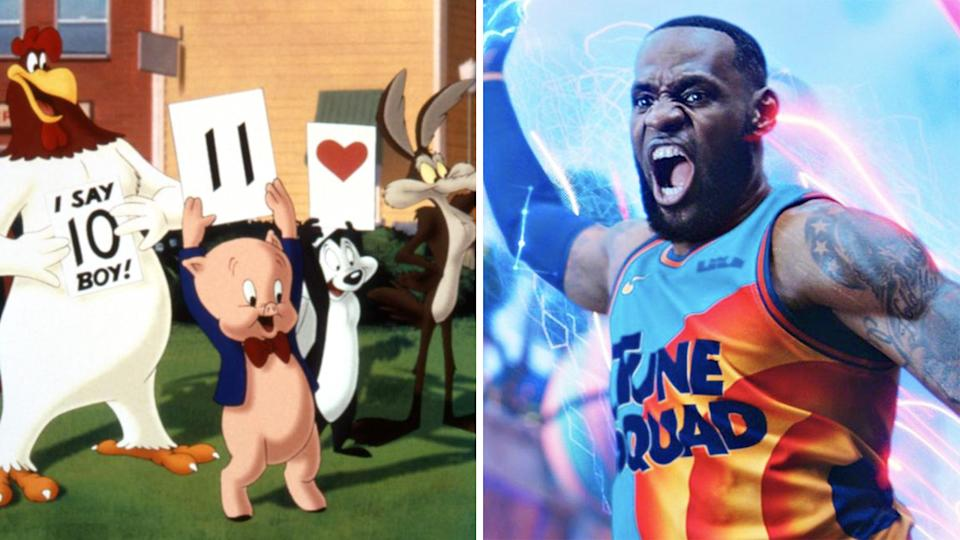 Looney Tunes character Pepe Le Pew has reportedly been cut from the Space Jam sequel starring LeBron James, over concerns the character normalises rape culture. Pictures: Warner Bros.