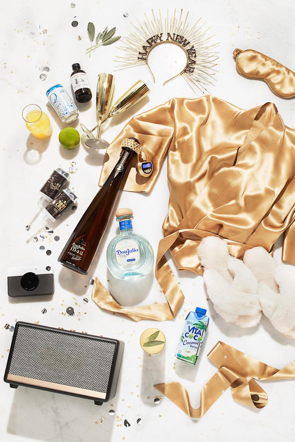 For those looking to recreate a lavish night out in the comfort of their own home, Tequila Don Julio has created this epic New Year's Eve VVIP Party Kit available on Cocktail Courier for $2,021 that comes complete with everything you need to celebrate the new year and step into 2021 in style.