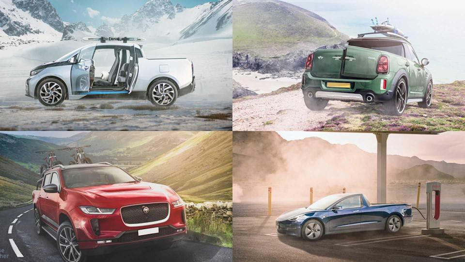 Check How Electric Pickup Trucks Based On EVs Could Look Like