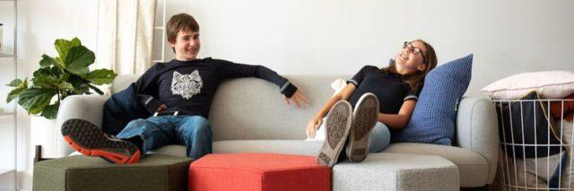 Two kids wearing Molly Fuller Designs Charlie compression shirt