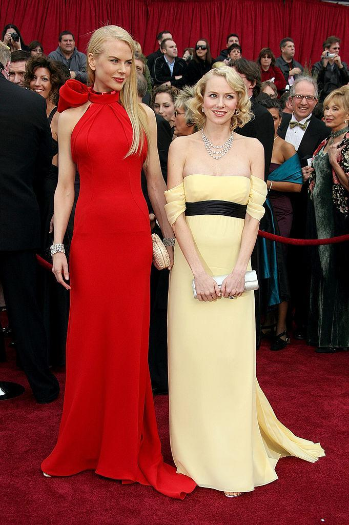 <p>Nicole Kidman and Naomi Watts were resplendent in Balenciaga and Escada. Fun fact: Watts was pregnant but not announcing it. (Photo: Getty Images) </p>