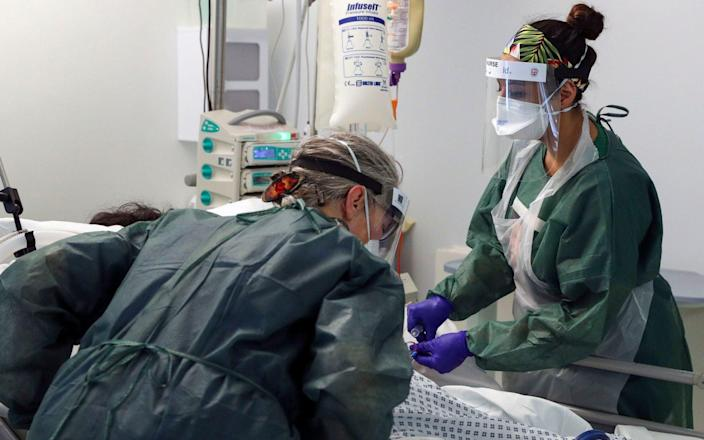 The death rate after elective surgery soars if a patient catches Covid, a new study has revealed, as doctors say non urgent procedures should be postponed. - Steve Parsons