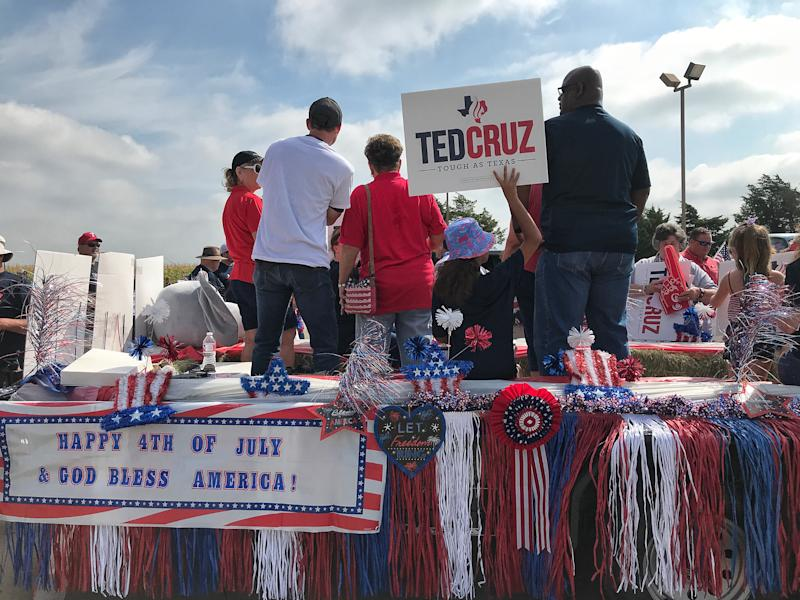 Supporters of Sen. Ted Cruz