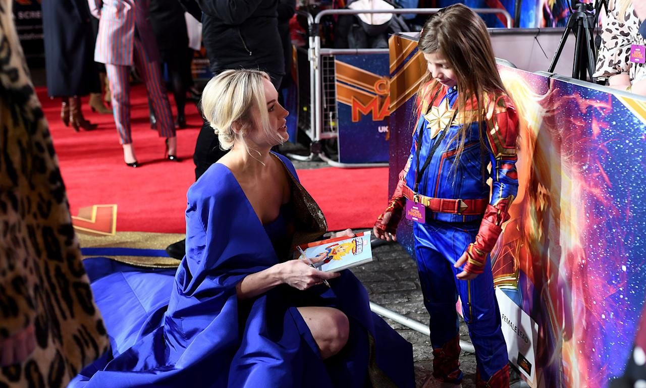 "<p>Brie Larson attends the UK Gala Screening of Marvel Studios' ""Captain Marvel"" at The Curzon Mayfair on February 27, 2019 in London, England. (Photo by Gareth Cattermole/Gareth Cattermole/Getty Images for Disney) </p>"