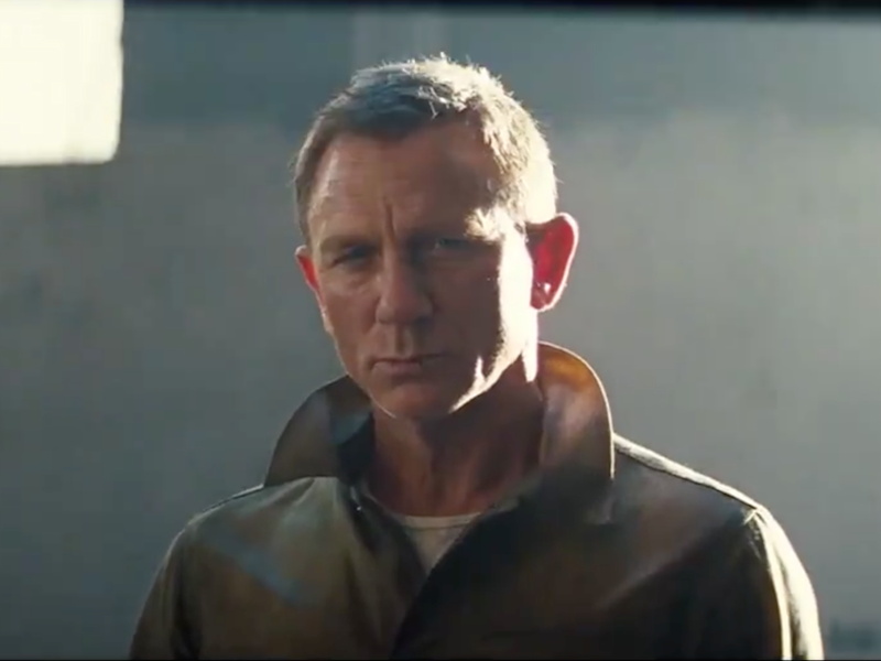 Daniel Craig in the teaser for No Time to Die: Universal Pictures/screengrab/YouTube