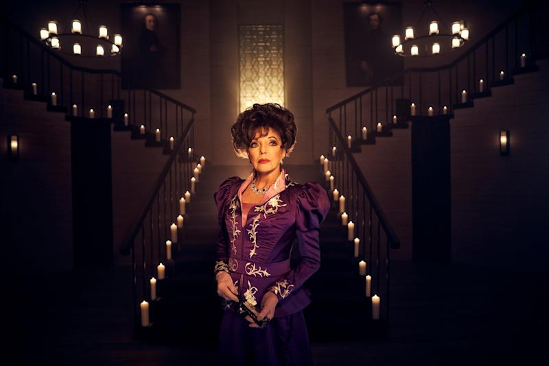 AMERICAN HORROR STORY: APOCALYPSE, Joan Collins, (Season 8, 2018). photo: Kurt Iswarienko / FX / courtesy Everett Collection