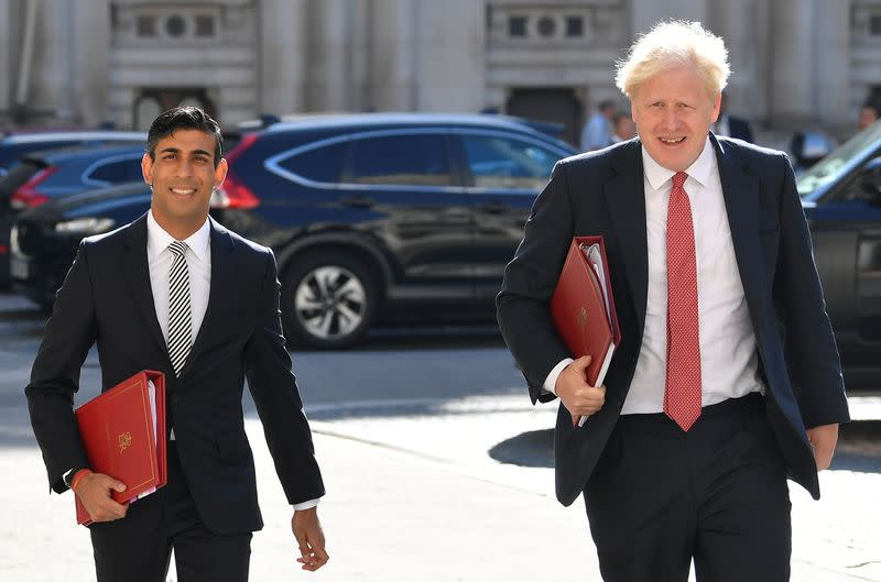 British Prime Minister Boris Johnson chairs a Cabinet meeting