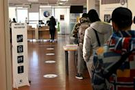 Every day, staff at a Marseille job centre in southern France face the financial distress from the year-long pandemic