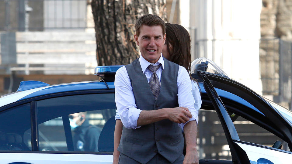 Tom Cruise has been filming 'Mission: Impossible 7' in various locations throughout Europe. (Samantha Zucchi/Insidefoto/Mondadori Portfolio via Getty Images)