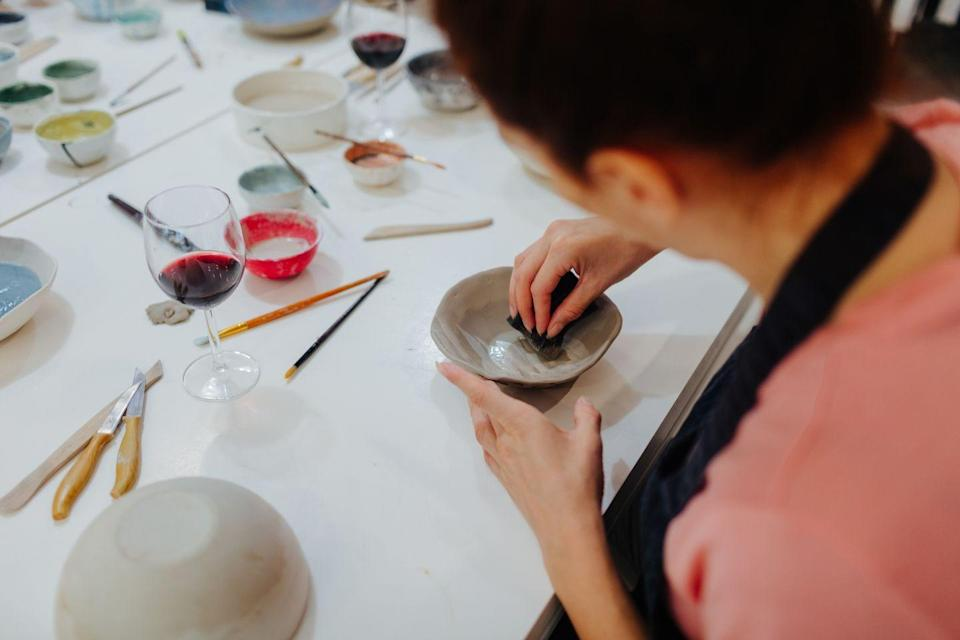 <p>BYOB to a painting or ceramics class in your kitchen, and make some art to (hopefully) hang in your apartment.</p>