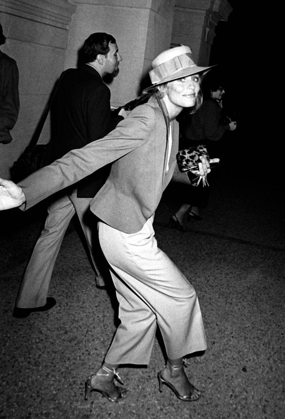 <p>Lauren Hutton attends the party for a Richard Avedon Opening on September 13, 1978 at Xenon Disco in New York City.</p>