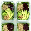 <p>This nutrient-packed grain bowl recipe comes together in 15 minutes with the help of a few convenience-food shortcuts like prewashed baby kale, microwavable quinoa and precooked beets. Pack these ahead to keep on hand for easy meal-prep lunches or dinners on busy nights.</p>