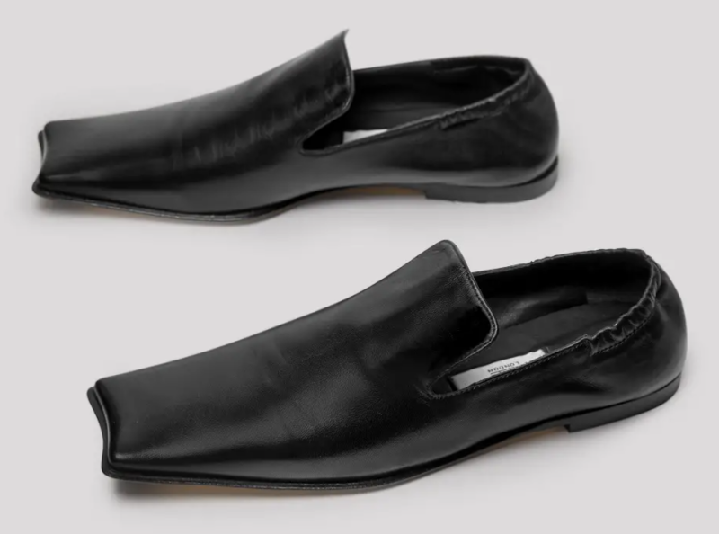 Miista Lenore Nappa Leather Loafer in Black