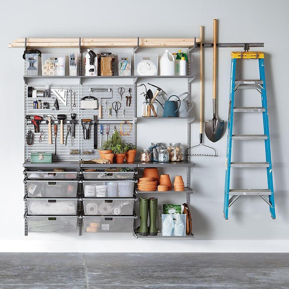 """<p>Organizing your home room-by-room is pretty much on everyone's to-do list, and that includes the place where all the clutter lands: your garage. In order to transform your hoarder hub, you'll need some effective garage storage ideas. From a place to put your power tools and <a href=""""https://www.womansday.com/home/g33637209/best-gardening-accessories/"""" rel=""""nofollow noopener"""" target=""""_blank"""" data-ylk=""""slk:gardening supplies"""" class=""""link rapid-noclick-resp"""">gardening supplies</a> to a designated space for car accessories and sports gear, there's a storage solution for every single thing item hiding in your garage. </p><p>But before you buy, you'll want to make a plan. Start by taking inventory of what you have in your garage, and group them together by purpose. Once you have your garage items sorted — on paper or in your head — you can create a shopping list. And if you feel a little overwhelmed by the store aisles, the decluttering aides listed in this story are a good place to start. Before you know it, you'll be able to find everything in your garage with ease. Hey, you may even make room for the car that should be there.</p>"""