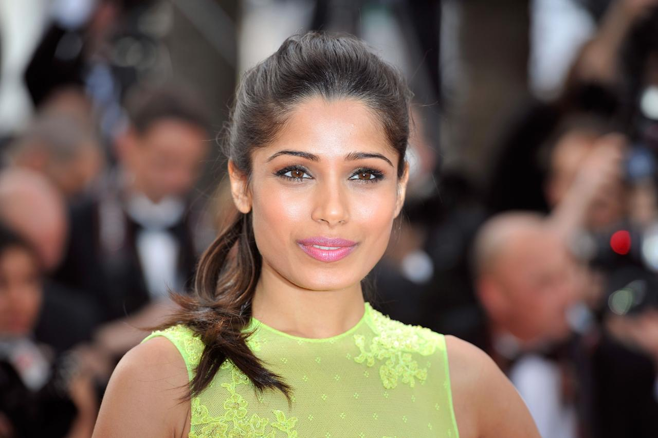 "CANNES, FRANCE - MAY 17:  Actress Freida Pinto attends the ""De Rouille et D'os"" Premiere during the 65th Annual Cannes Film Festival at Palais des Festivals on May 17, 2012 in Cannes, France.  (Photo by Gareth Cattermole/Getty Images)"
