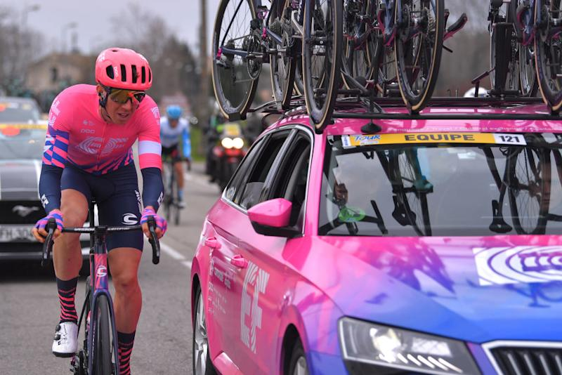 AIXENPROVENCE FRANCE FEBRUARY 16 Sep Vanmarcke of Belgium and Team EF Pro Cycling Car during the 5th Tour de La Provence 2020 Stage 4 a 1705km stage from Avignon to AixEnProvence TDLP letourdelaprovence TDLP2020 on February 16 2020 in AixEnProvence France Photo by Luc ClaessenGetty Images