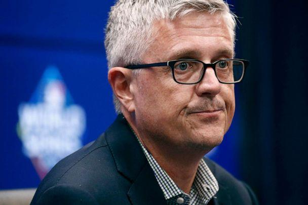 PHOTO: Houston Astros general manager Jeff Luhnow speaks at a baseball World Series news conference in Washington, Oct. 24, 2019. (Patrick Semansky/AP, FILE)