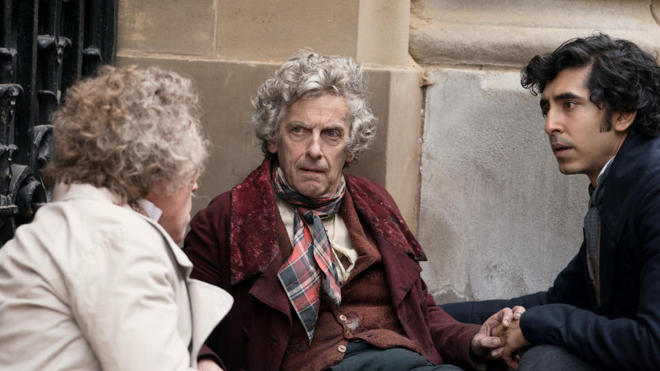 Peter Capaldi and Dev Patel in 'The Personal History of David Copperfield'. (Credit: Lionsgate)