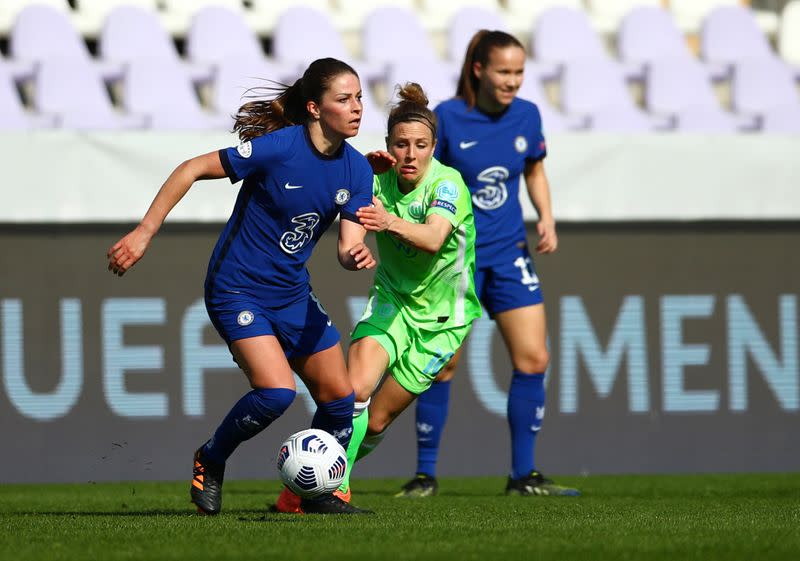 Soccer-Chelsea cruise past Wolfsburg into women's ...