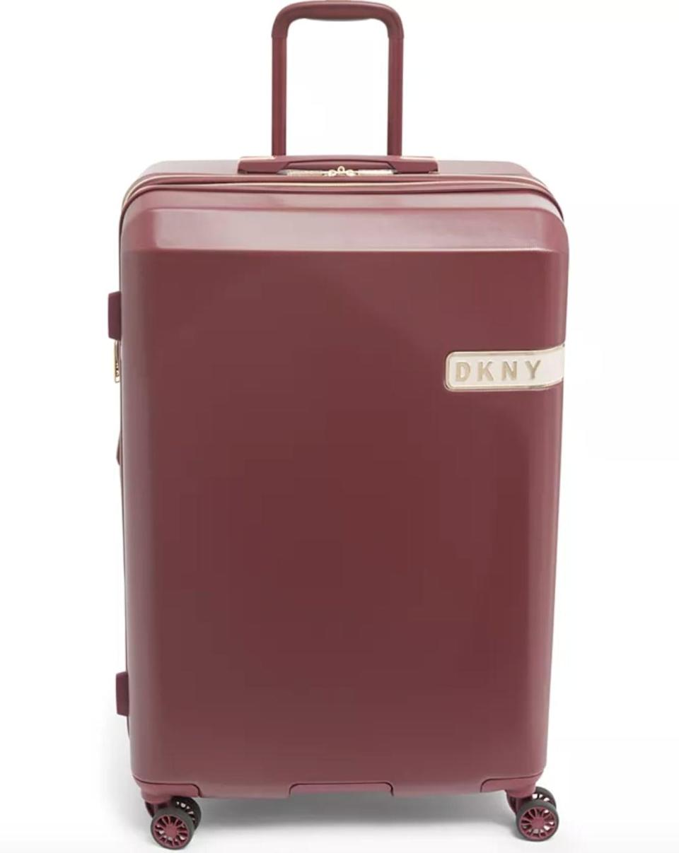 """<p><span>DKNY Rapture 28"""" Hardside Spinner Suitcase</span> ($128, originally $375 (with code FOURTH))</p>"""