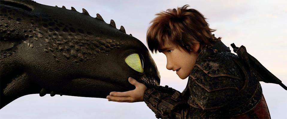 """<p><strong>Hulu's Description:</strong> """"When the appearance of a Light Fury dragon coincides with the darkest threat they have faced, Hiccup and Toothless must journey to a hidden world and discover their destinies.""""</p> <p><span>Stream <strong>How to Train Your Dragon: The Hidden World</strong> on Hulu!</span></p>"""