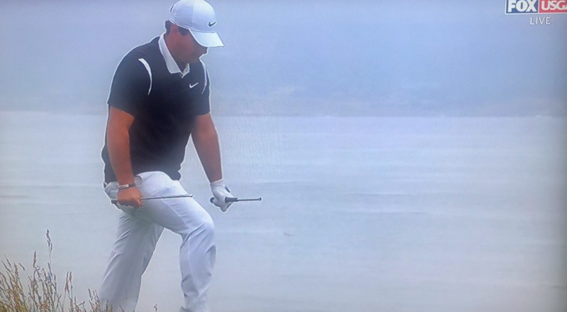 Caddie Had Incredible Reaction To Patrick Reed Snapping Club Over His Leg