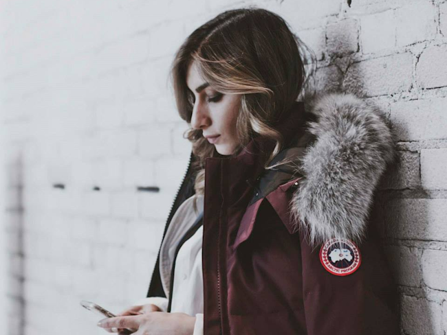 canada goose parka made in china