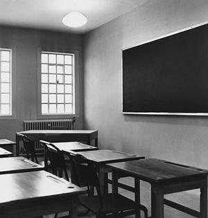 A classroom at the Swinfen Hall borstal near Lichfield, Staffordshire (R. Viner/Getty)