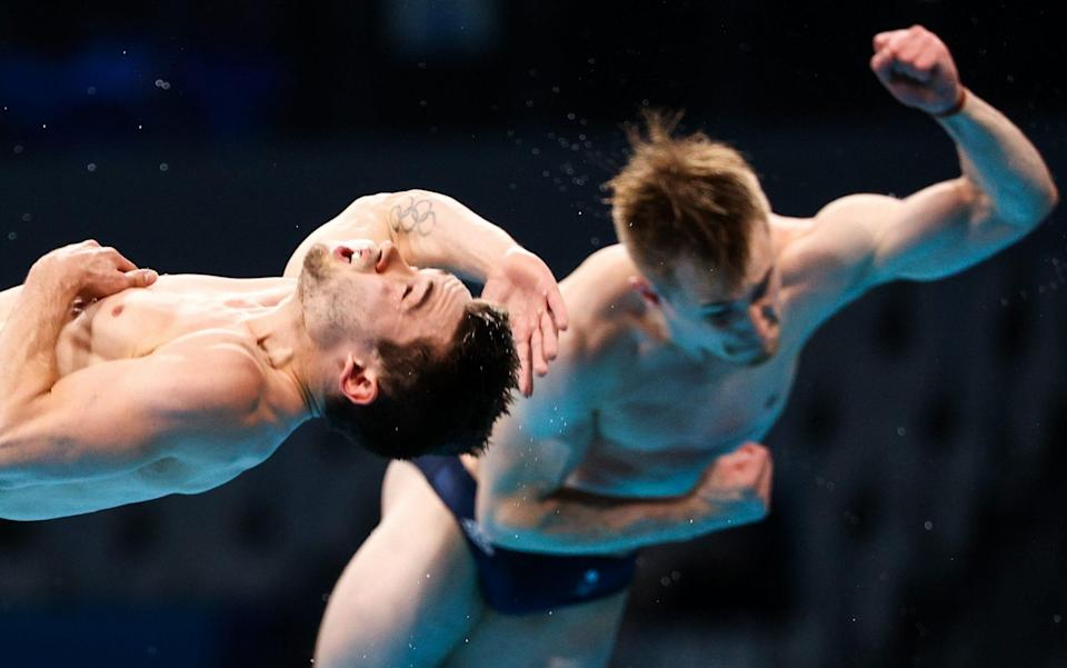 Laugher and Goodfellow had a tough day with Chinese pair Xie Siyi and Wang Zongyuan taking the gold - GETTY IMAGES