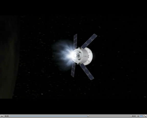 As part of a new agreement between the two space agencies, the European Space Agency will provide the service module for NASA's Orion spacecraft. Image taken from a video released Jan. 16, 2013.