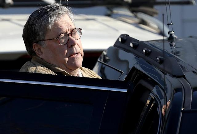 US Attorney General Bill Barr departs his home March 23, 2019 in McLean, Virginia (AFP Photo/WIN MCNAMEE)