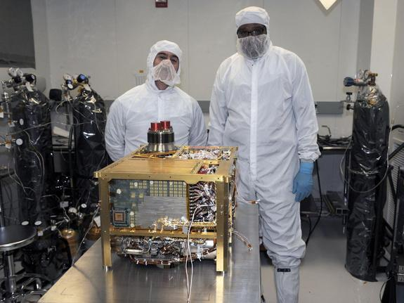 The Sample Analysis at Mars (SAM) instrument for NASA's Mars Science Laboratory mission will study chemistry of rocks, soil and air as the mission's rover, Curiosity, investigates Gale Crater on Mars. SAM was built at the NASA Goddard Space Fli