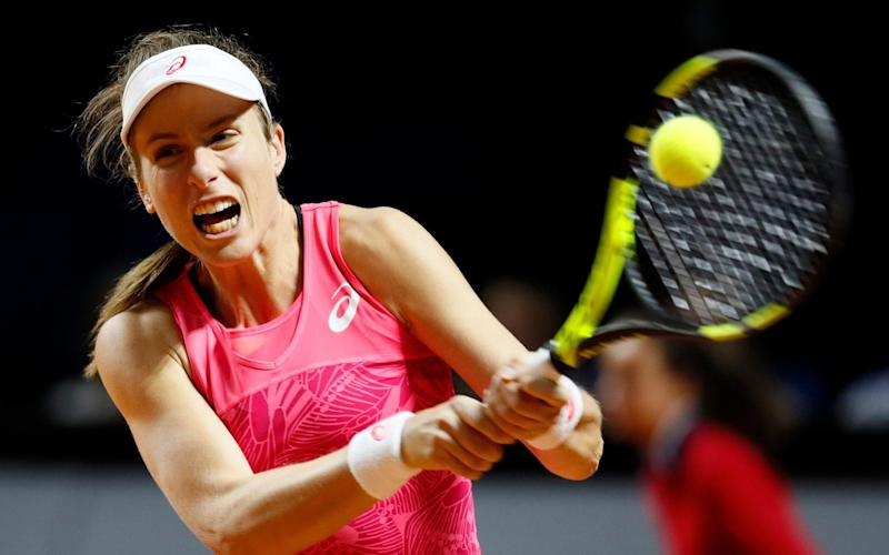 Johanna Konta recorded only the third main tour clay-court victory of her career - EPA