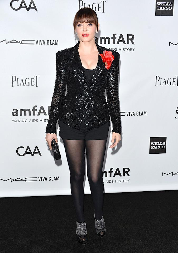 HOLLYWOOD, CA - OCTOBER 11:  Actress Rose McGowan arrives at amfAR's Inspiration Gala at Milk Studios on October 11, 2012 in Hollywood, California.  (Photo by Alberto E. Rodriguez/Getty Images)