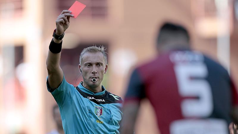 Serie D coach sent off for slapping own player