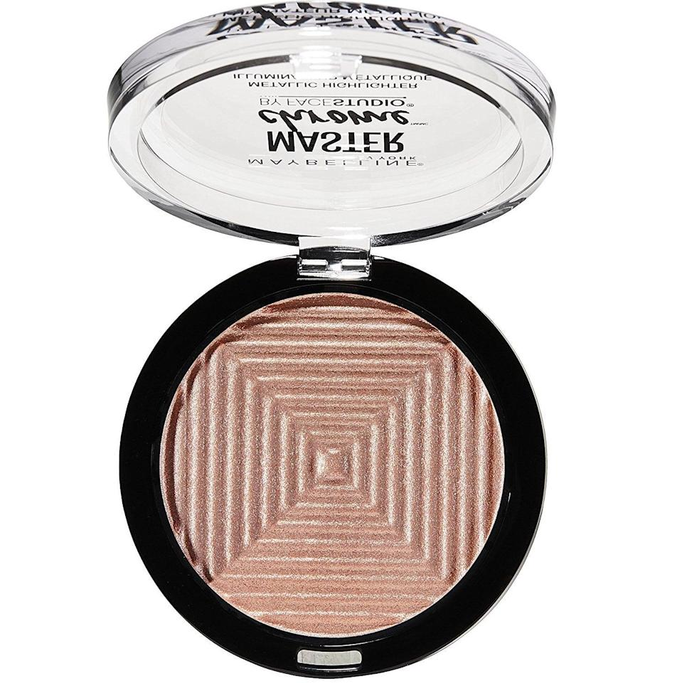<p>The color payoff of this <span>Maybelline Makeup Master Chrome Metallic Face Highlighter</span> ($8) is so good, beauty junkies are tossing their expensive alternatives. </p>