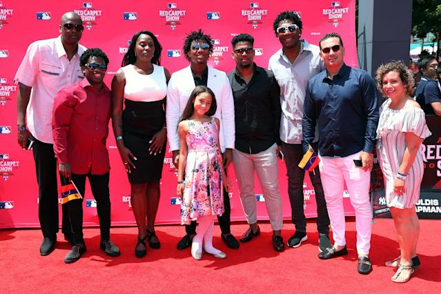Atlanta Braves outfielder Ronald Acuña Jr. comes from a family full of baseball players. (Getty Images)