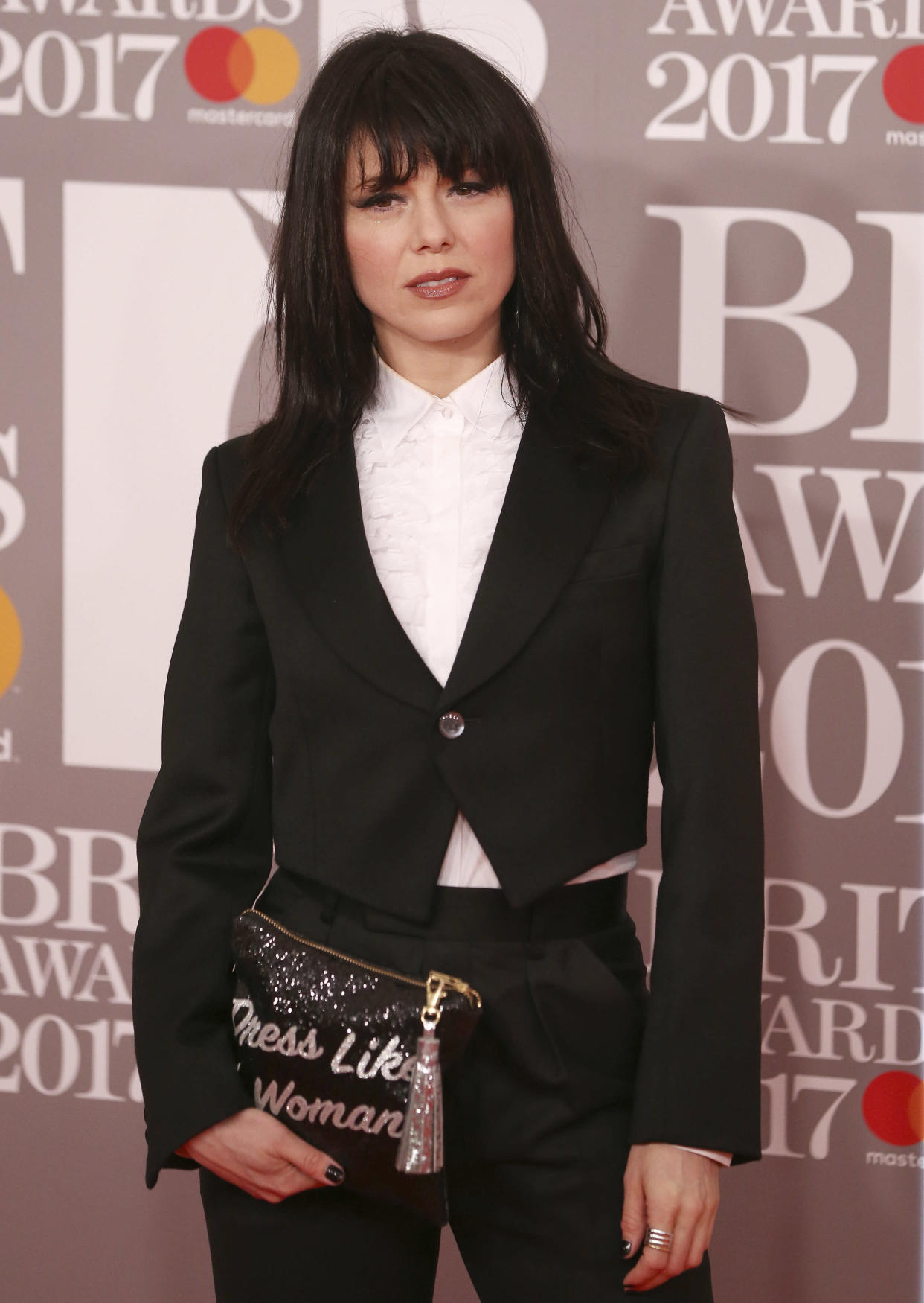Imelda May arrives for the Brit Awards at the O2 Arena in London, Britain, February 22, 2017.  REUTERS/Neil Hall EDITORIAL USE ONLY. FOR EDITORIAL USE ONLY. NOT FOR SALE FOR MARKETING OR ADVERTISING CAMPAIGNS