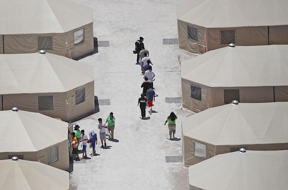Image: New Tent Camps Go Up In West Texas For Migrant Children Separated From Parents (Joe Raedle / Getty Images file)