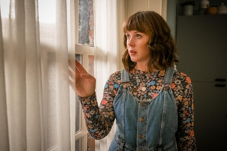 Alexandra Roach as Zoe Sterling in Viewpoint. (Ben Blackall / © Tiger Aspect Productions 2021)