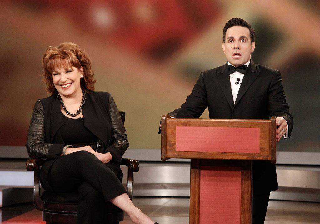 "Joy Behar and Mario Cantone on Joy's final episode as co-host of ABC's ""The View"" on Friday, August 9, 2013."